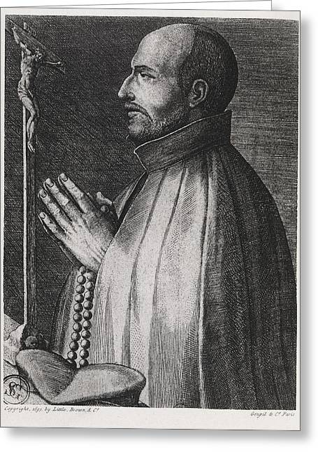 Rosary Greeting Cards - Ignatius Of Loyola, Spanish Saint Greeting Card by Middle Temple Library