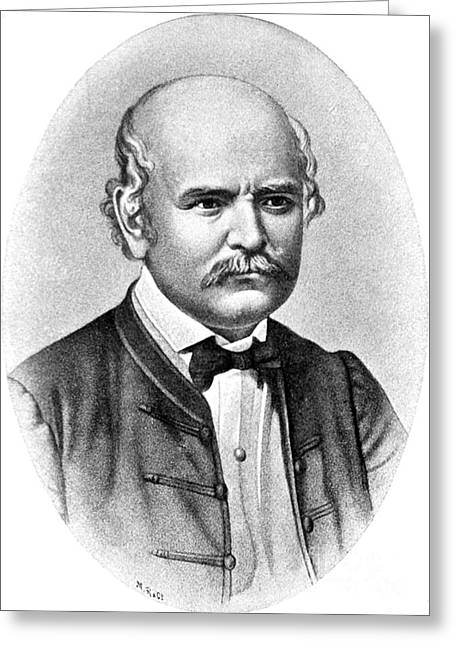 Commit Greeting Cards - Ignaz Semmelweis, Hungarian Greeting Card by Science Source
