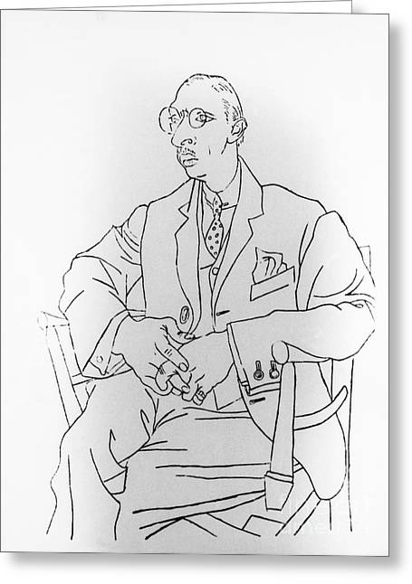 Igor Stravinsky, Russian Composer Greeting Card by Omikron
