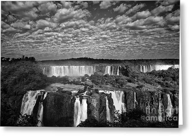 Natural Resources Greeting Cards - Iguacu Falls Greeting Card by Keith Kapple
