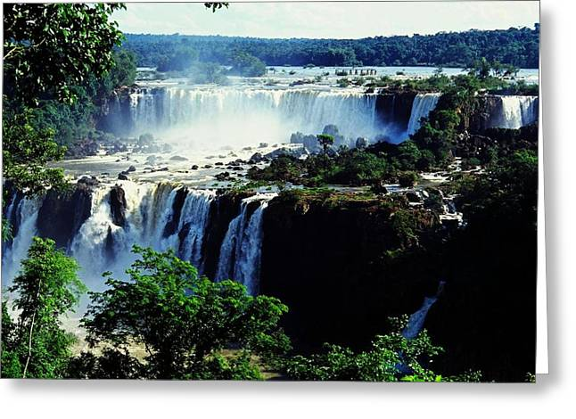Juergen Greeting Cards - Iguacu Waterfalls Greeting Card by Juergen Weiss