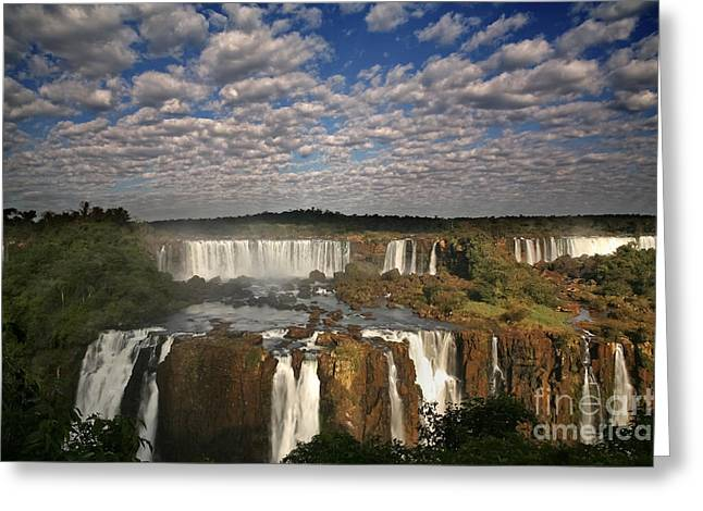 Natural Resources Greeting Cards - Iguassu Pano Greeting Card by Keith Kapple