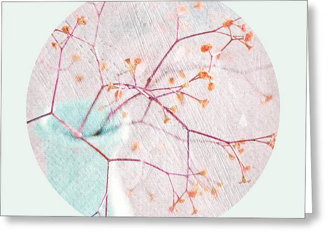 Textured Floral Greeting Cards - Ikebana Greeting Card by Linde Townsend