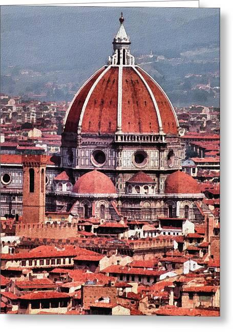 Florence Greeting Cards - Il Duomo Greeting Card by Joe Bonita