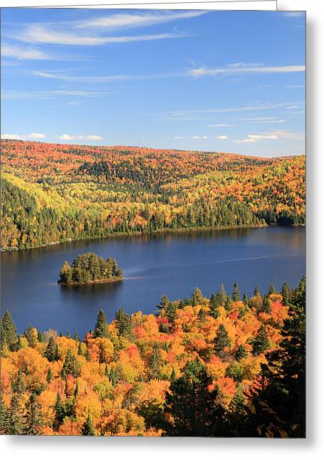 Riviere Greeting Cards - Ile aux Pins La Mauricie National Park Greeting Card by Pierre Leclerc Photography