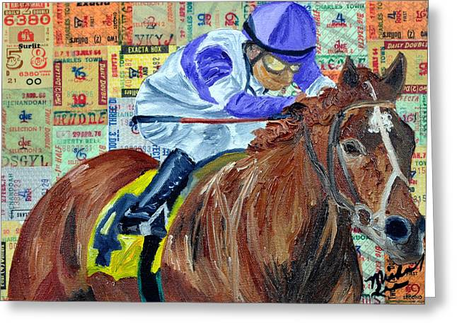 I'll Have Another Wins Greeting Card by Michael Lee