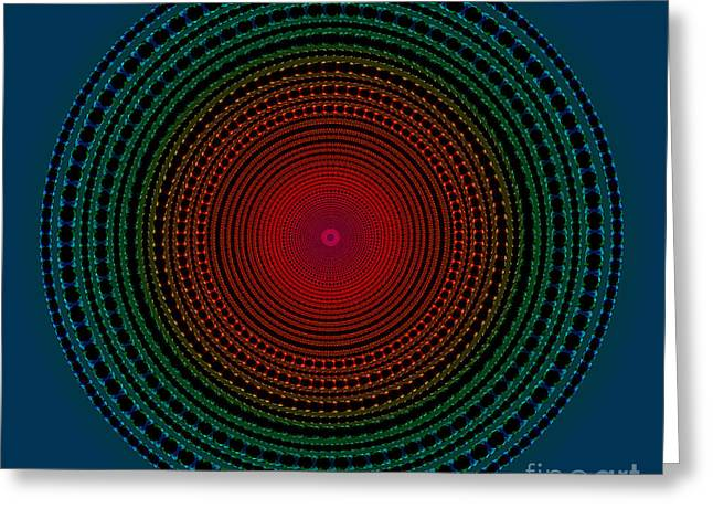 Astral Greeting Cards - Illuminate Dark Circle  Greeting Card by Atiketta Sangasaeng