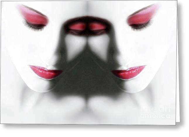 Self-portrait Photographs Greeting Cards - Illumination 2 - Self Portrait Greeting Card by Jaeda DeWalt
