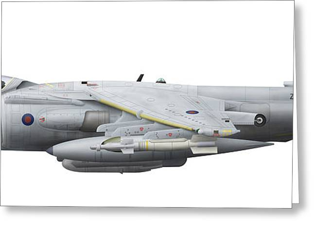 Vector Image Greeting Cards - Illustration Of A British Aerospace Greeting Card by Chris Sandham-Bailey