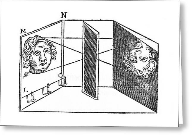 Illustration Of A Camera Obscura Greeting Card by Middle Temple Library