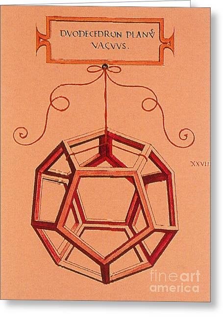 Dodecahedron Greeting Cards - Illustration Of A Dodecahedron Greeting Card by Science Source
