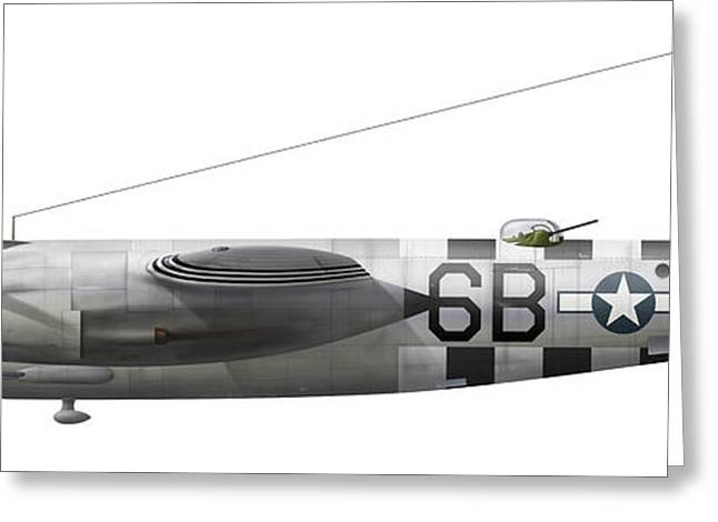 Vector Image Greeting Cards - Illustration Of A Martin-b-26 Marauder Greeting Card by Chris Sandham-Bailey