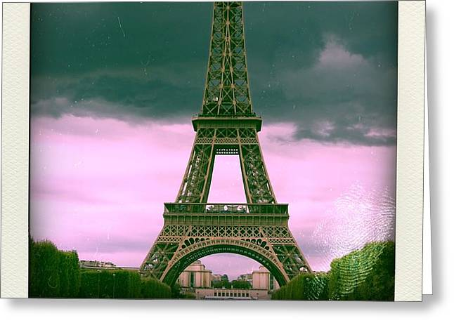Illustration of Eiffel Tower Greeting Card by BERNARD JAUBERT