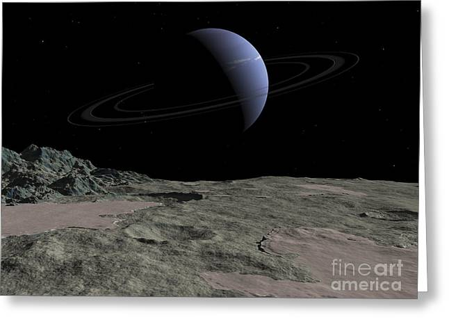 Geology Digital Art Greeting Cards - Illustration Of The Gas Giant Neptune Greeting Card by Walter Myers