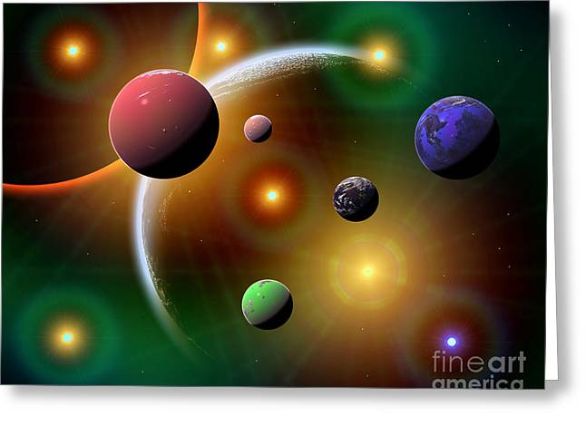 Luminous Globe Greeting Cards - Illustration Of The Variations Of Stars Greeting Card by Mark Stevenson