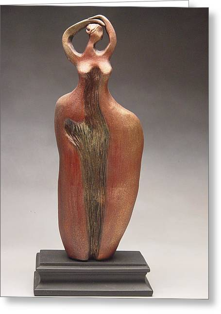 View Sculptures Greeting Cards - Im so tired Greeting Card by Judith Birtman