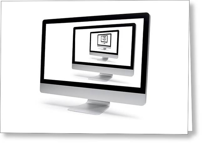 Imac Greeting Cards - iMac on and on Greeting Card by Donald Schwartz