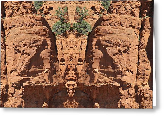 Double Image Greeting Cards - Images  In The Rocks Greeting Card by James Steele