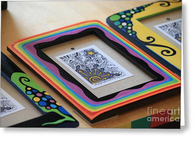 Picture Frame Greeting Cards - Imagination Art Shop Greeting Card by Mandy Shupp