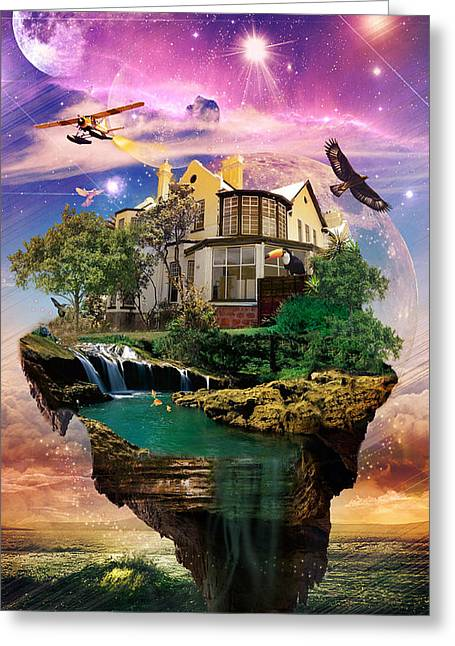 Recently Sold -  - Kenal Louis Greeting Cards - Imagination Home Greeting Card by Kenal Louis