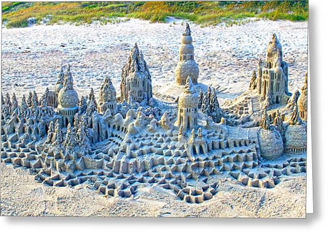 Sand Castles Greeting Cards - Imagination in Sand and Water I Greeting Card by Lou Gagnon