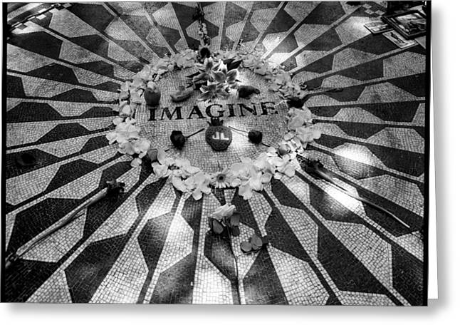 John Lennon Photographs Greeting Cards - Imagine Greeting Card by Christina Czybik
