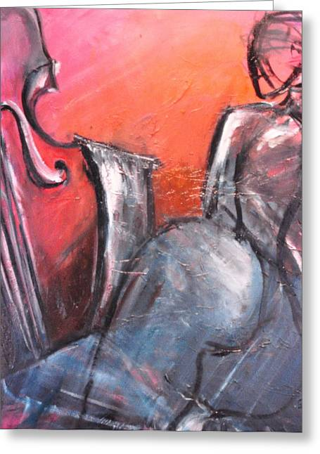 Figure Based Pastels Greeting Cards - Imagine Greeting Card by David Grudniski