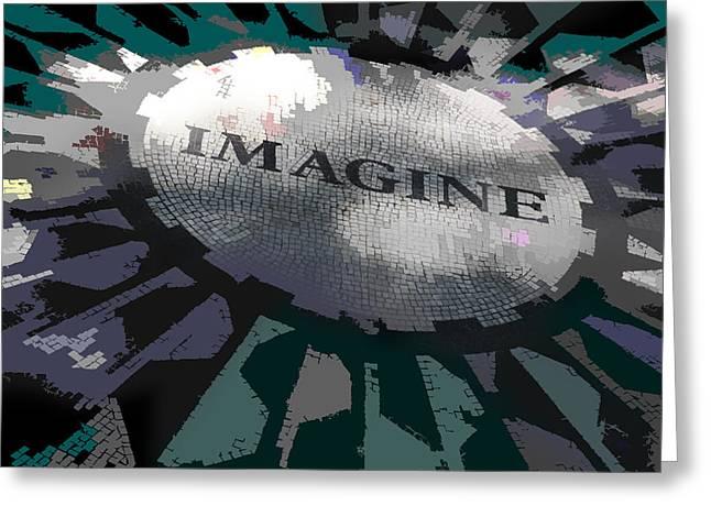 Imagine Greeting Cards - Imagine Greeting Card by Kelley King