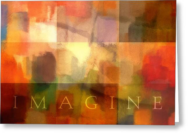 Imagine Mixed Media Greeting Cards - Imagine Greeting Card by Lutz Baar