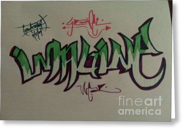 Ambition Drawings Greeting Cards - Imagine Greeting Card by Mr Ambition