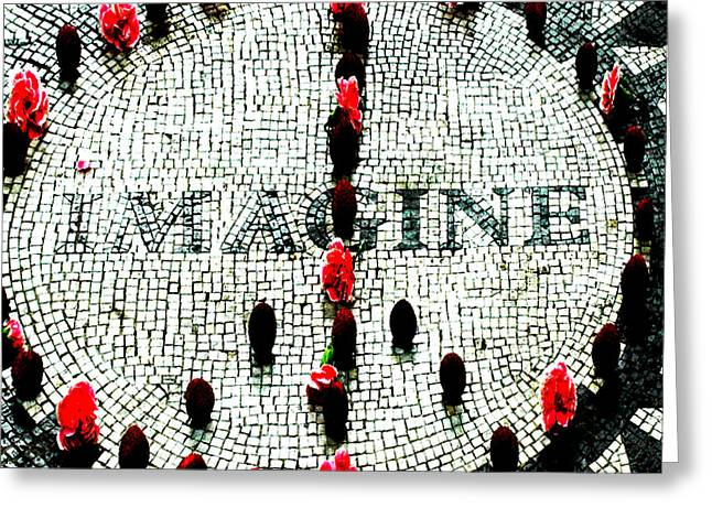 Imagine Peace Licensing Art Greeting Card by Anahi DeCanio
