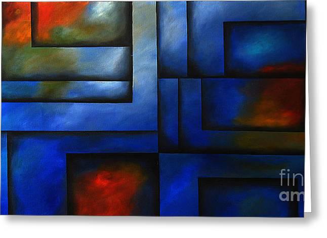 Geometrical Art Greeting Cards - Imaging Light Greeting Card by Uma Devi