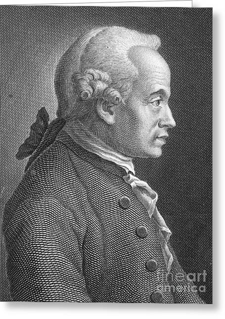 Immanuel Greeting Cards - Immanuel Kant, German Philosopher Greeting Card by Photo Researchers