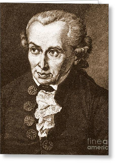 Immanuel Greeting Cards - Immanuel Kant, German Philosopher Greeting Card by Science Source