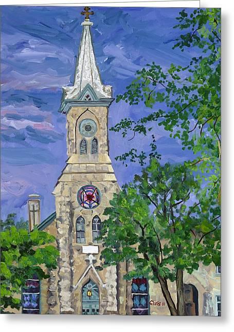 Immanuel Greeting Cards - Immanuel Lutheran Church Greeting Card by Christina Plichta