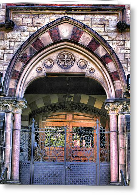 Entrance Door Greeting Cards - Immanuel Presbyterian Church II Greeting Card by Steven Ainsworth