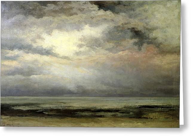 Drizzle Greeting Cards - Immensity Greeting Card by Gustave Courbet