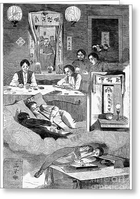 1874 Greeting Cards - Immigrants: Chinese, 1874 Greeting Card by Granger