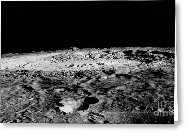 Copernicus Greeting Cards - Impact Crater Copernicus Greeting Card by Nasa