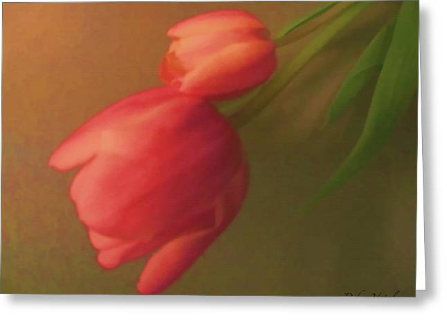Impact Of Spring Greeting Card by Debra     Vatalaro