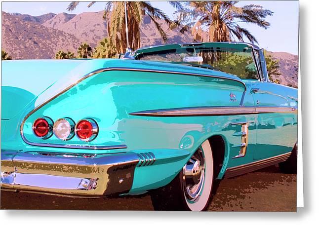 Interpretation Greeting Cards - Impala Convertible Greeting Card by William Dey