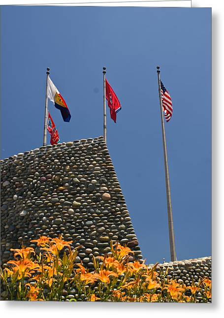 Flag Stone Greeting Cards - Imposing Flags Greeting Card by Douglas Barnett