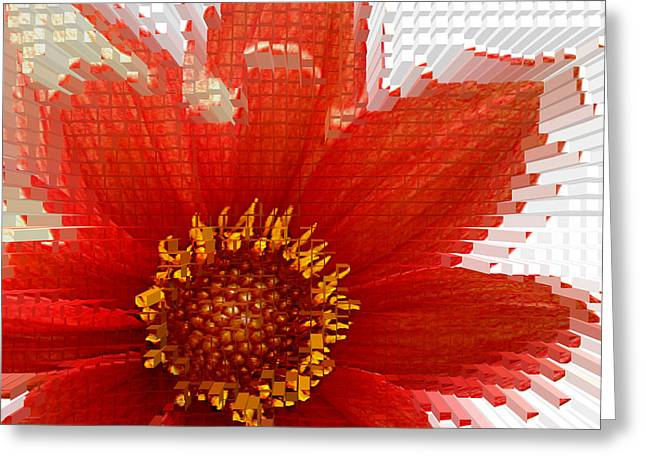 Daliha Greeting Cards - Impossible dahlia Greeting Card by Emanuel Tanjala