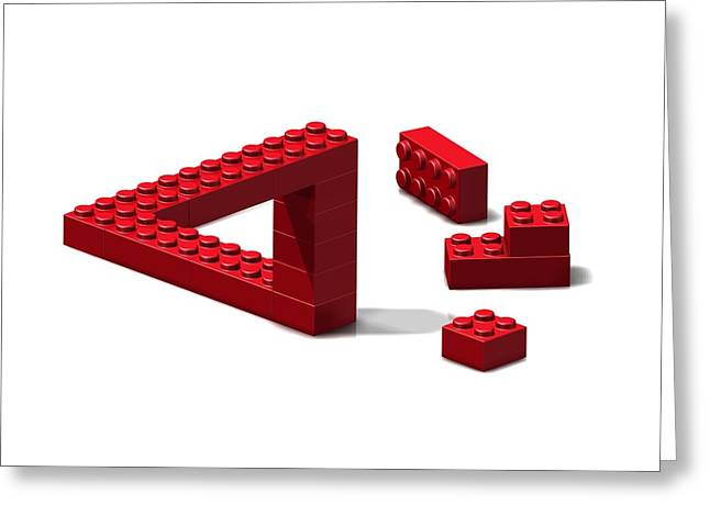 Lego Greeting Cards - Impossible Triangle, Artwork Greeting Card by Claus Lunau