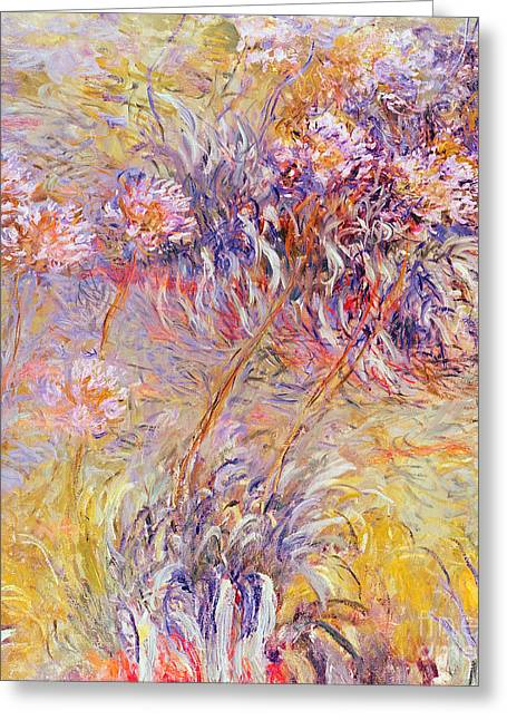 Bold Blossom Greeting Cards - Impression - Flowers Greeting Card by Claude Monet