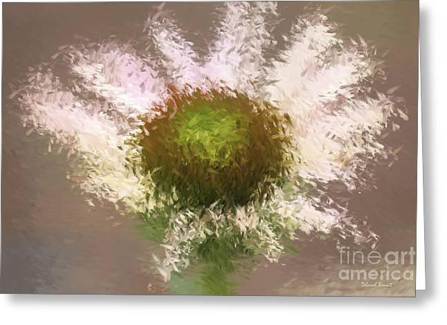 Impressionistic Echinacea Greeting Card by Deborah Benoit
