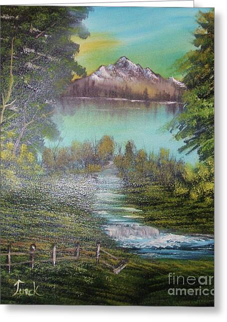 Bob Ross Paintings Greeting Cards - Impressions in Oil - 11 Greeting Card by Bill Turck