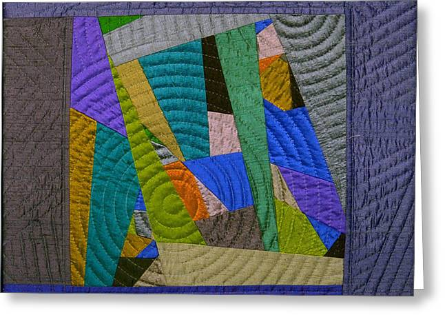 Geometric Tapestries - Textiles Greeting Cards - Impromptu 3 Greeting Card by Marilyn Henrion