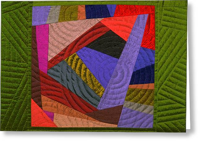 Geometric Tapestries - Textiles Greeting Cards - Impromptu 4 Greeting Card by Marilyn Henrion