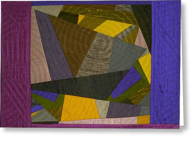 Geometric Tapestries - Textiles Greeting Cards - Impromptu 5 Greeting Card by Marilyn Henrion